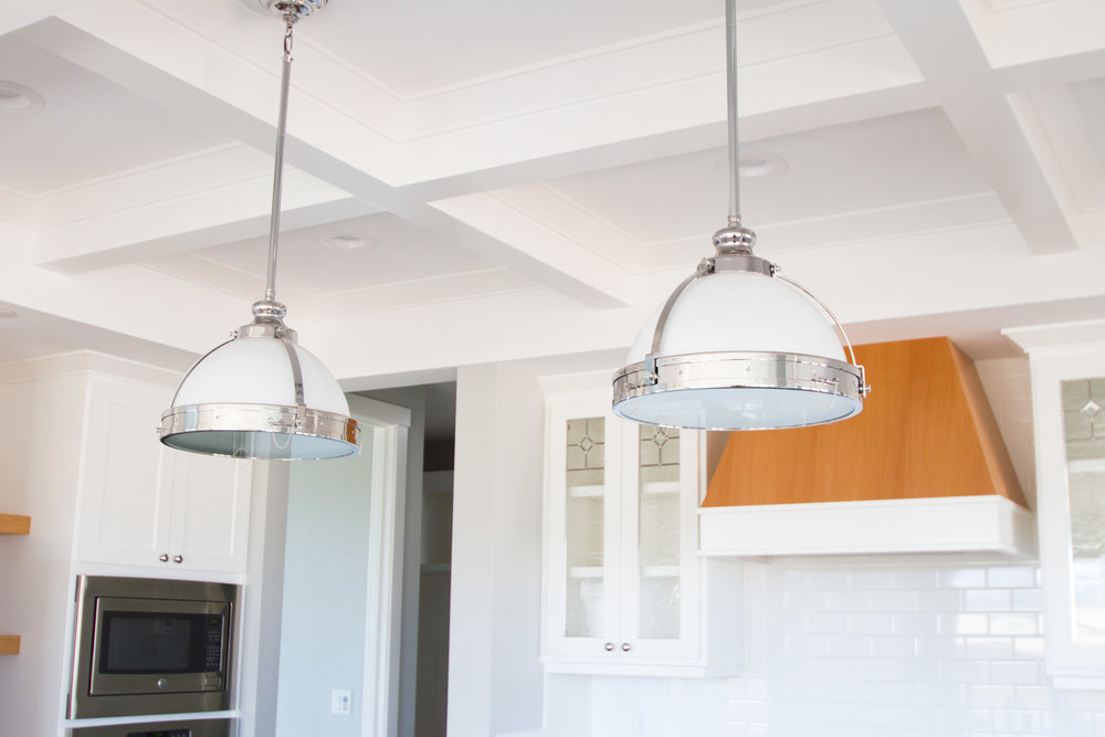 kitchen with beam ceiling