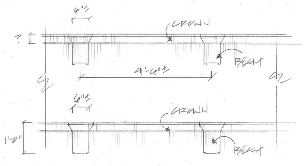 beam ceiling in kitchen