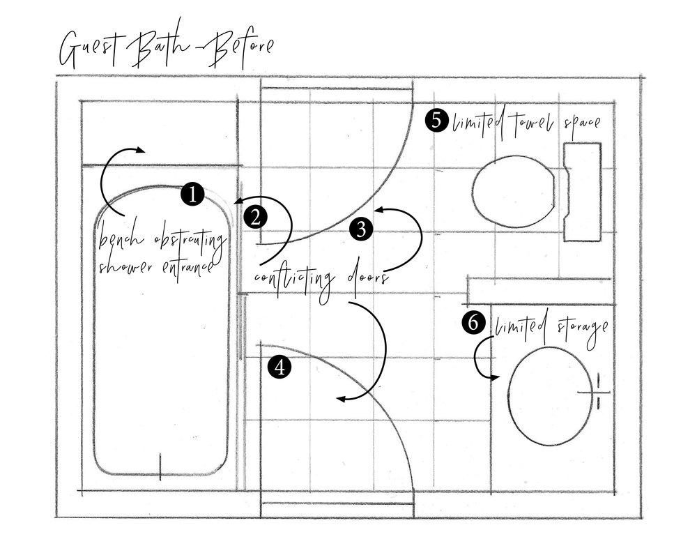 bathroom before floor plan