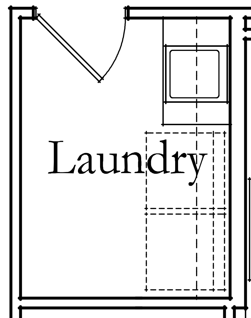 laundry room before floor plan