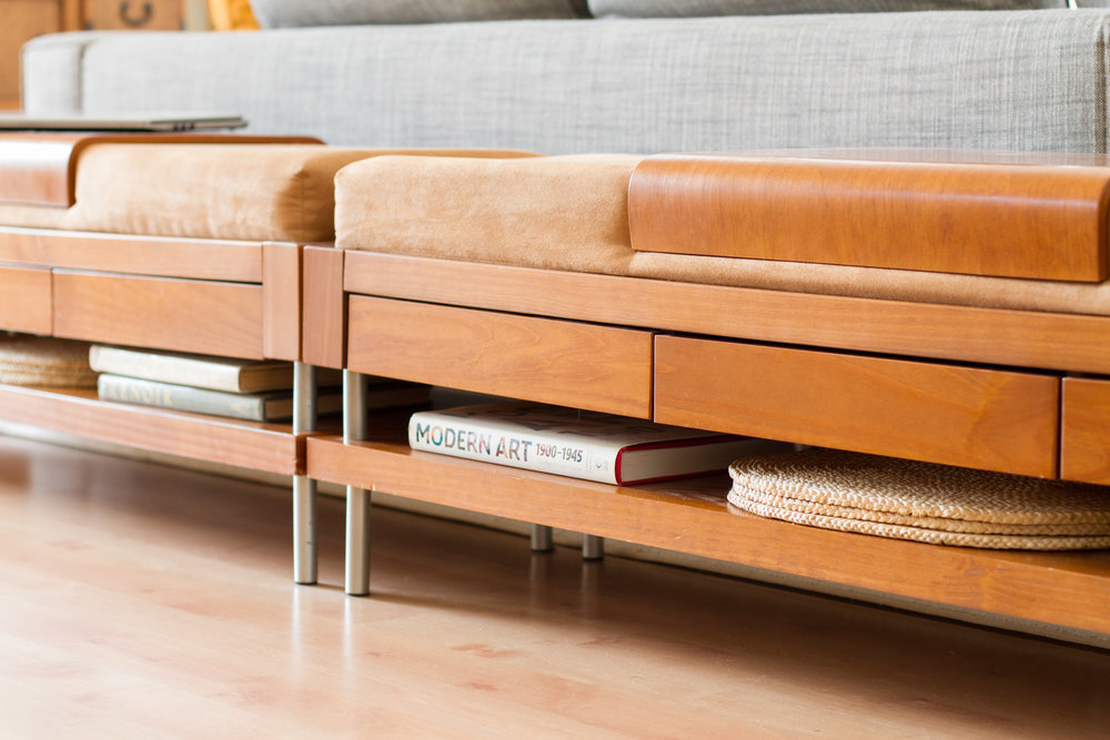midcentury modern bench