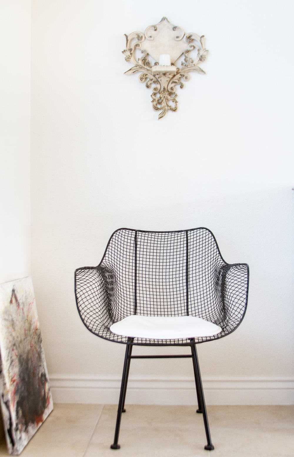 wire chair midcentury modern