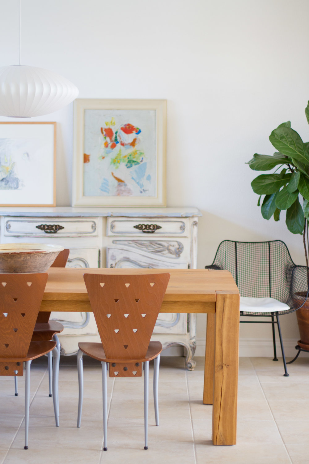 eclectic style dining room