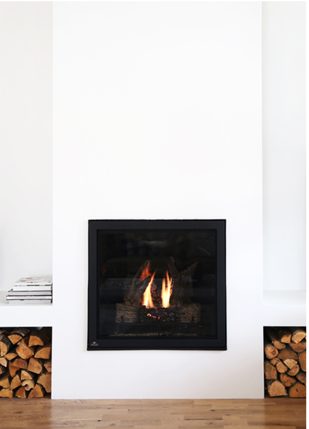 the faux martha modern fireplace