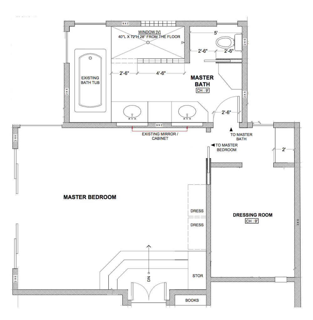 bathroom floor plan before