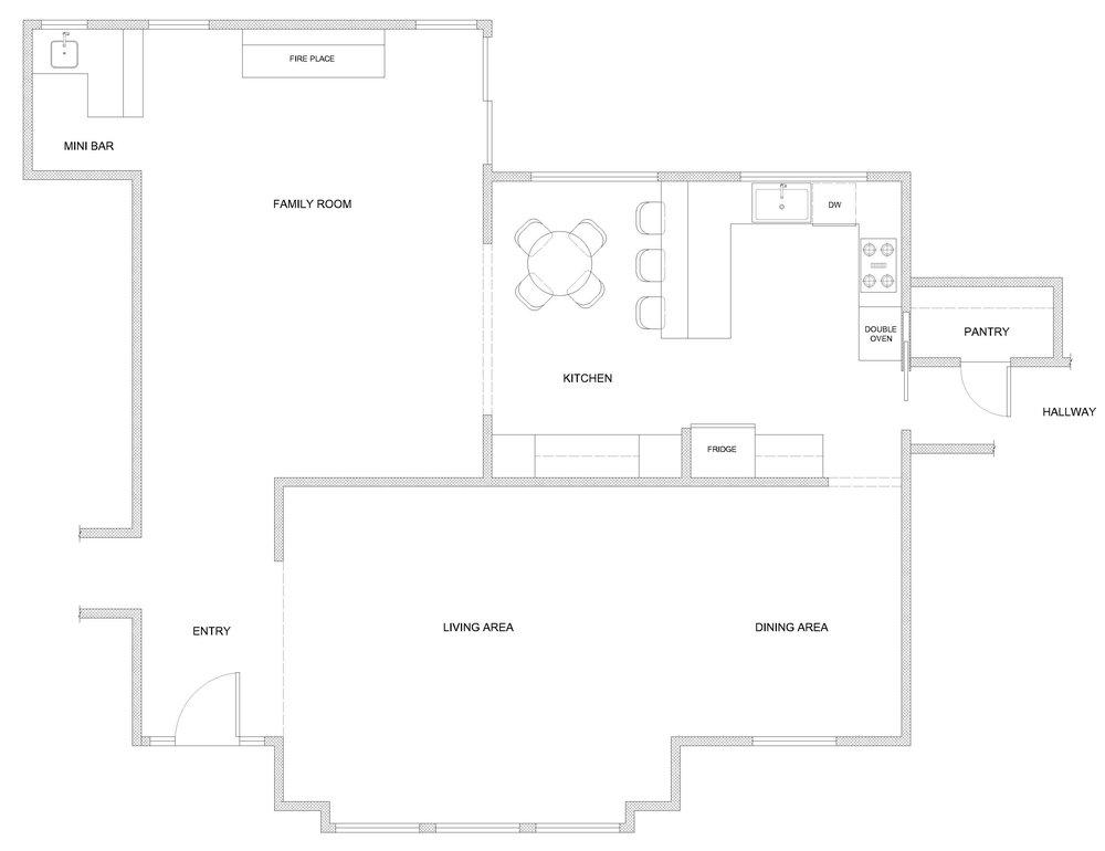 existing kitchen floor plan