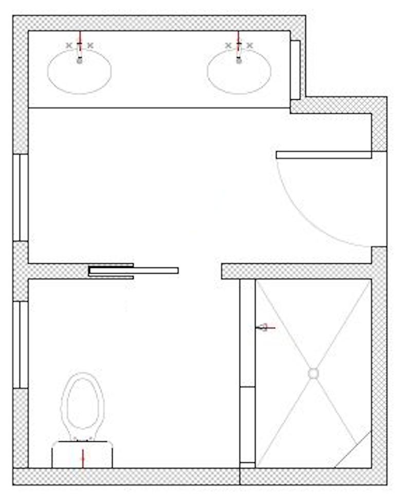 EXISTING BATHROOM FLOOR PLAN