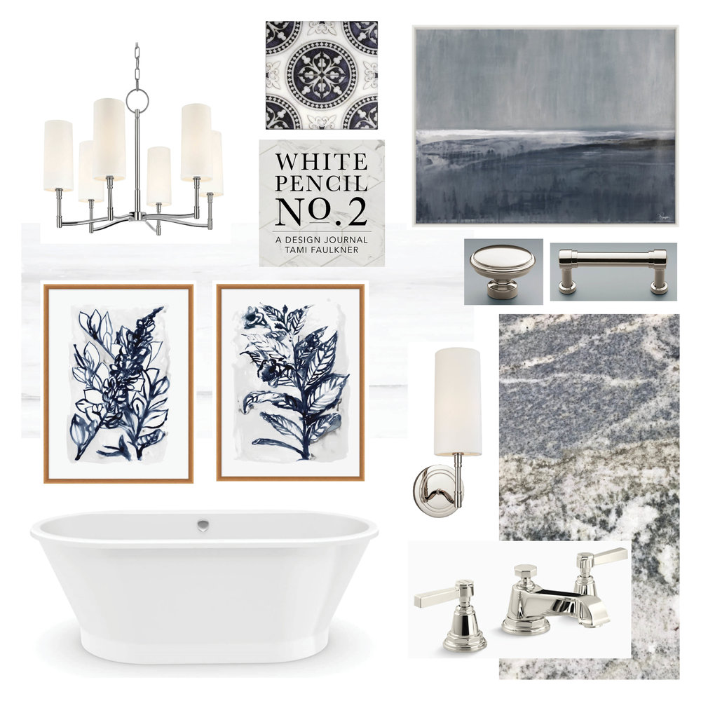 tami faulkner design bathroom concept board