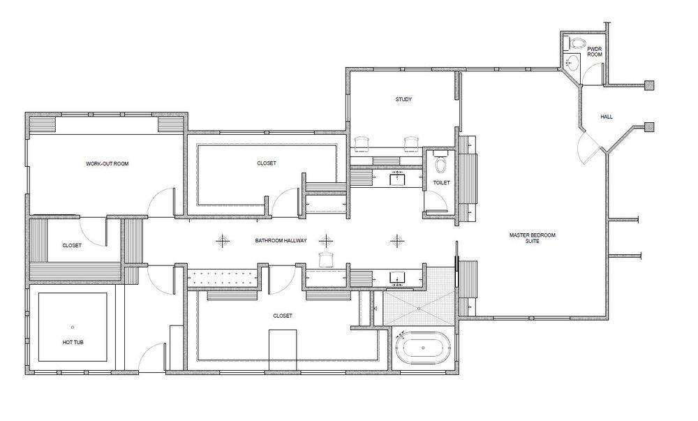 master suite floor plan