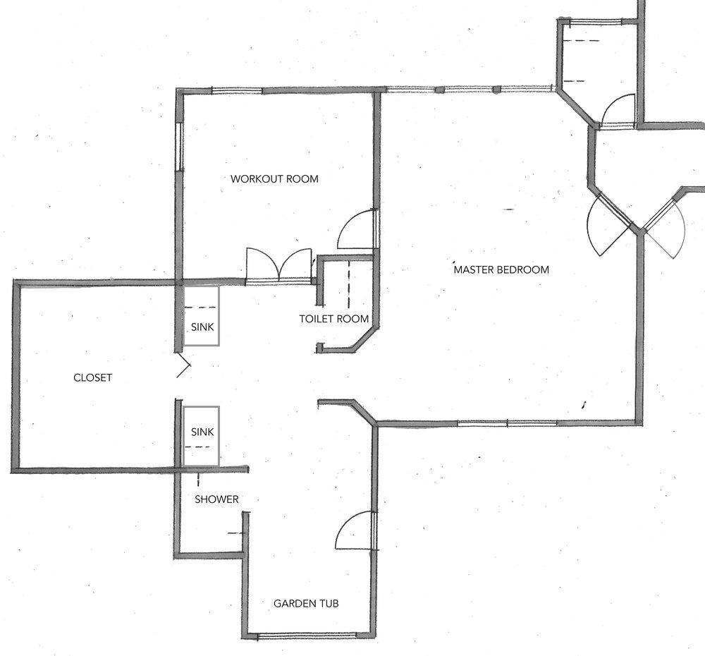 before master bedrrom floor plan