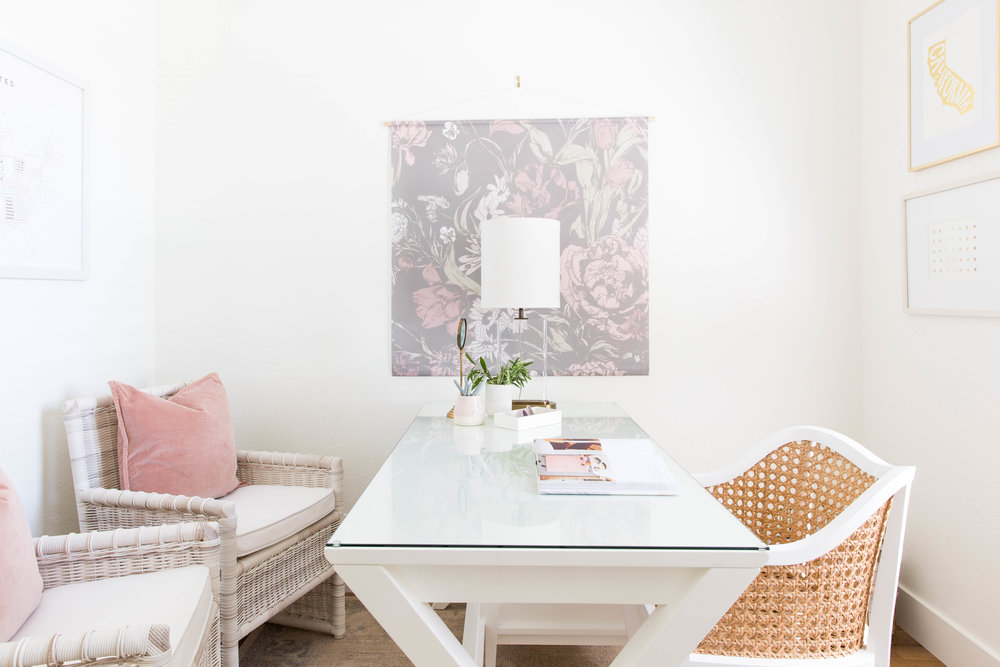 design studio with white paint