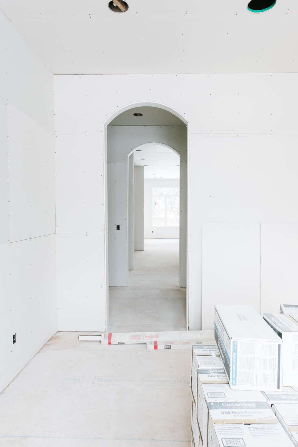LOOKING INTO THE BUTLER'S PANTRY & KITCHEN FROM DINING ROOM