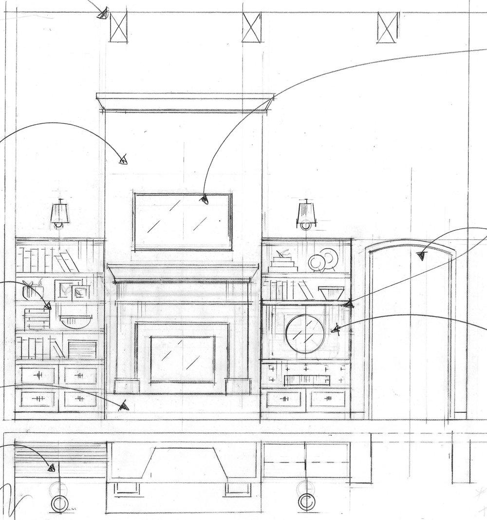 Tami Faulkner design, fireplace design, Sacramento CA
