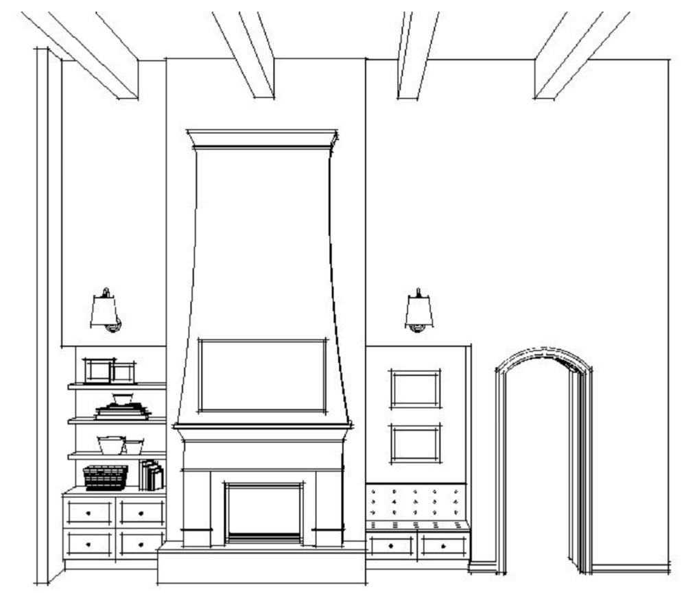 Tami Faulkner design, fireplace design