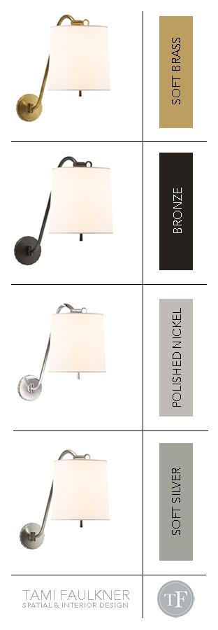 Tami Faulkner design, favorite wall lights