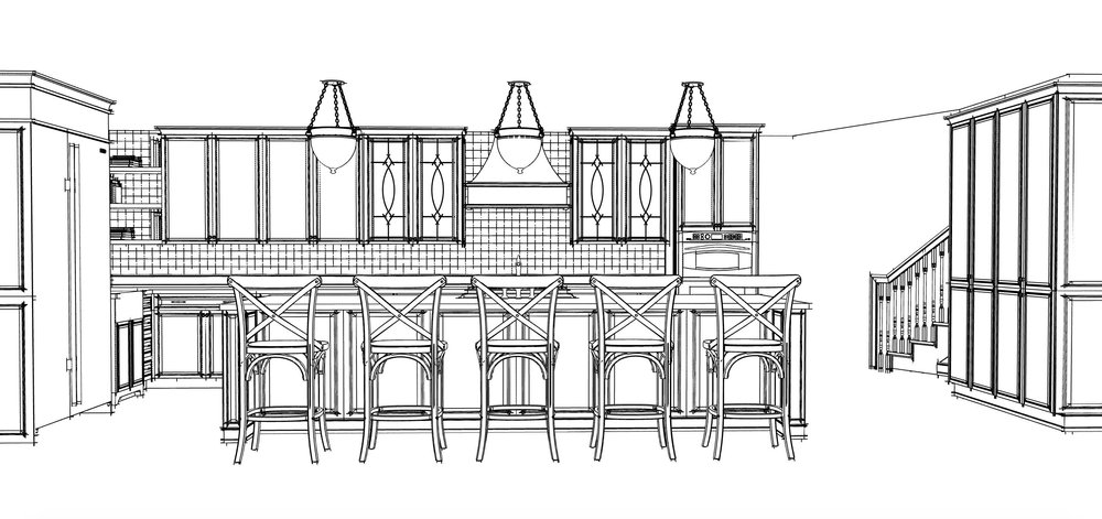 REVISED KITCHEN PLAN WITHOUT STRUCTURAL LIMITATIONS