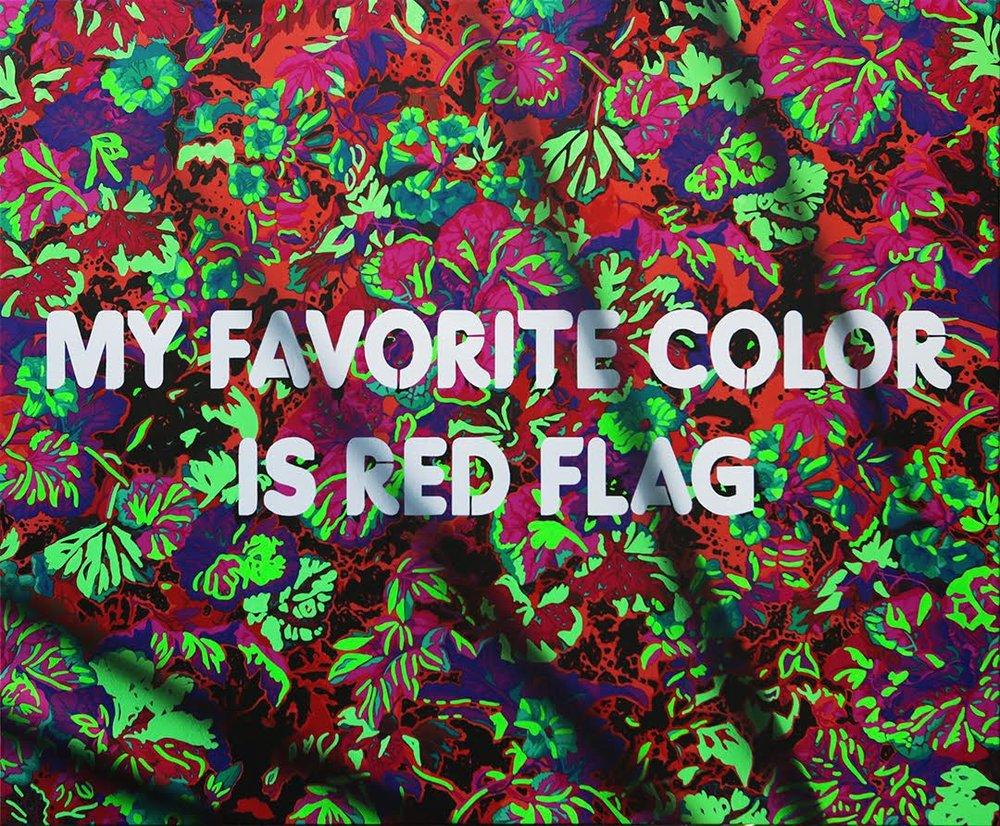 my favorite color is red flag | adam mars