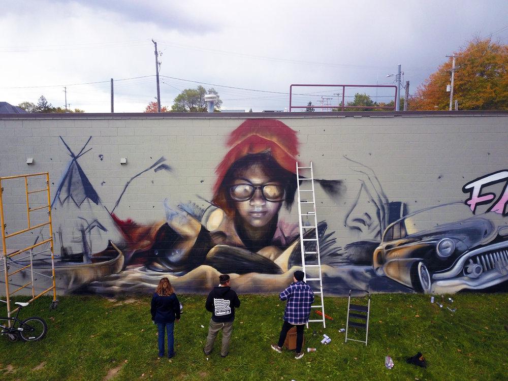 flint public art project   nomad clan