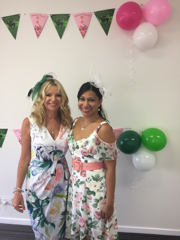 Deb and Nirvana look absolutely glamorous in their Spring Fever look
