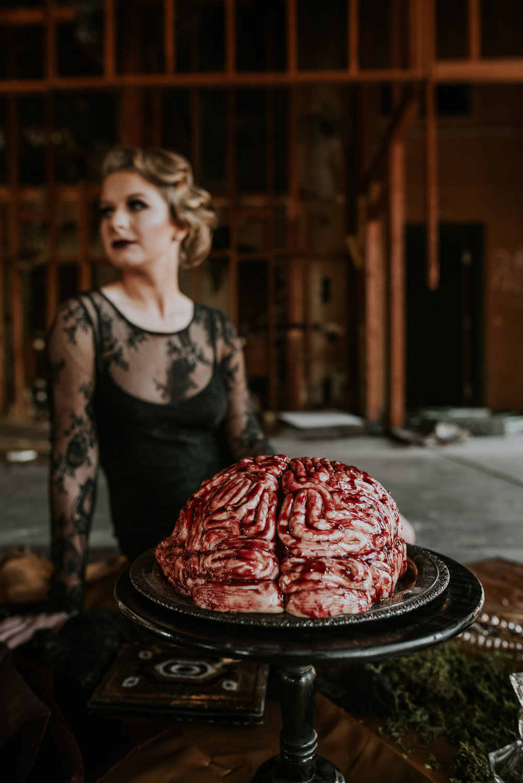 Brain Cake Halloween Inspo   Chelsey Herrera Photography