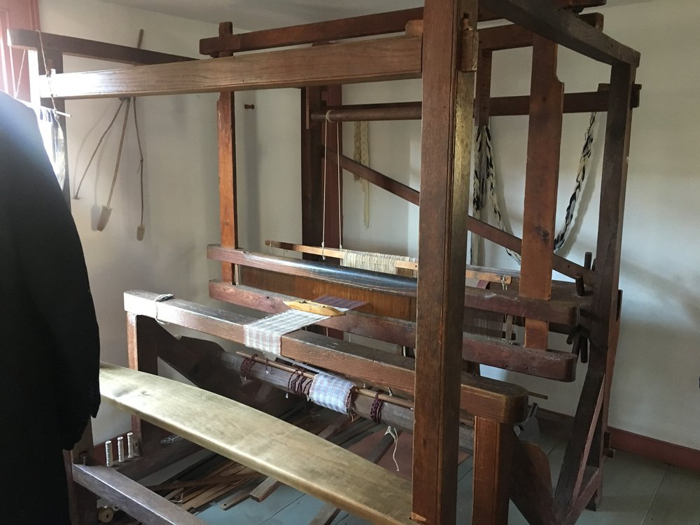 An early loom that was actually portable.