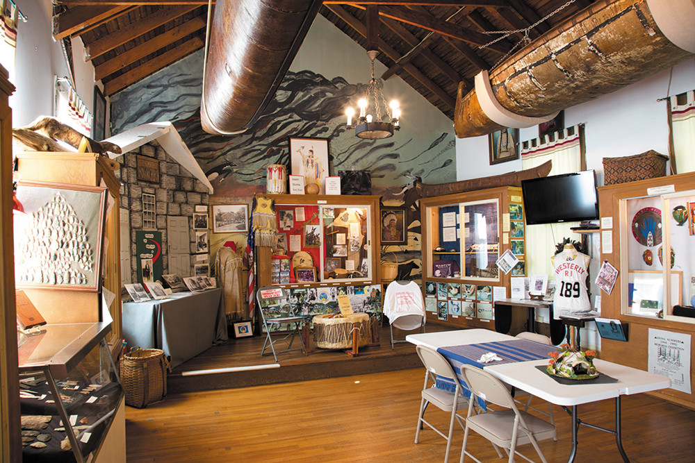The interior of the Tomaquag Museum