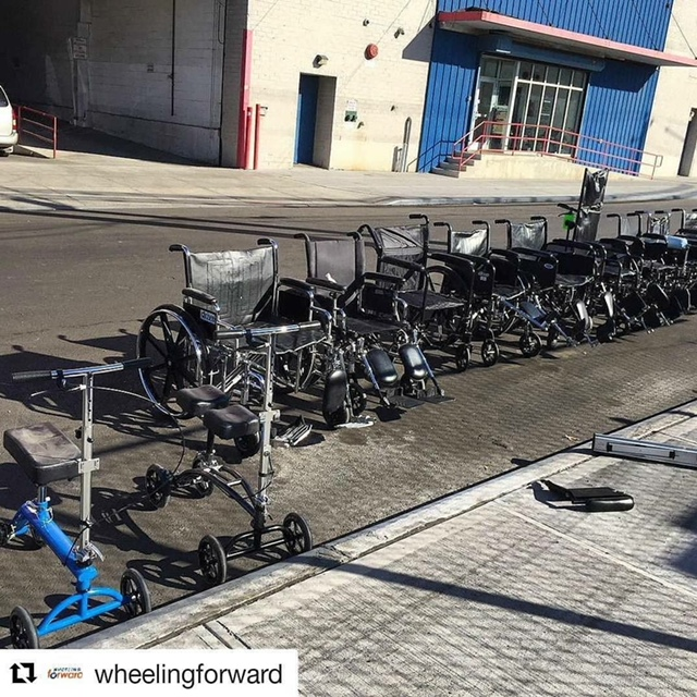 Wheelchairs Donated by Wheeling Forward