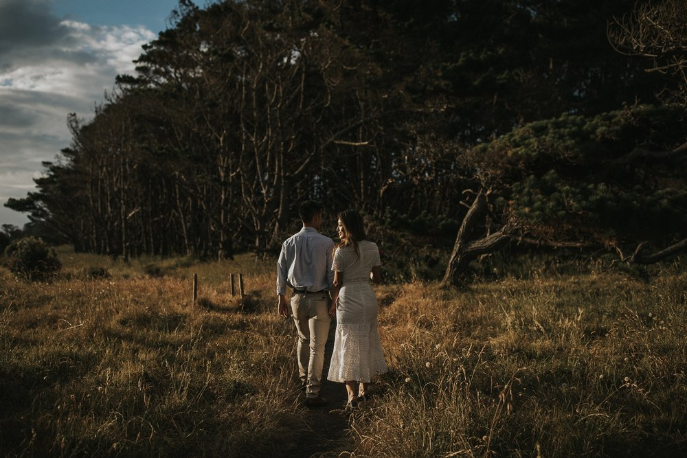 muriwai engagement shoot