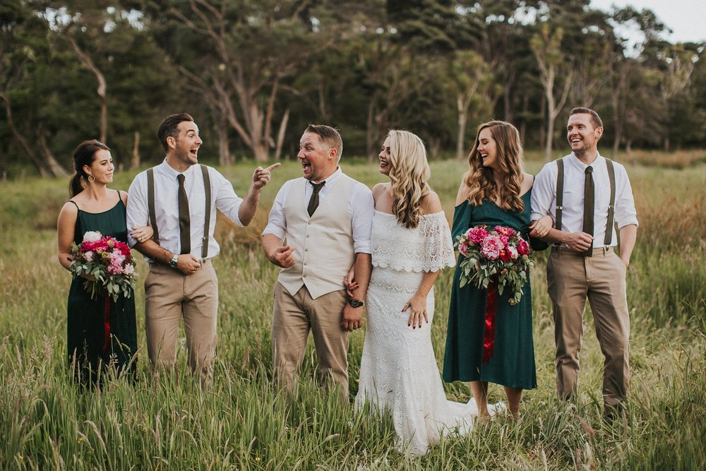 bridal party, natural candid wedding photography