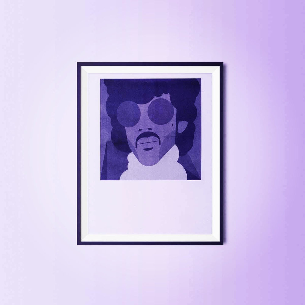 Win a print of Martin's artwork! - Share this article AND comment here or on the corresponding link on the People of Paisley Park Facebook page by October 15th to enter to win an autographed purple risograph.
