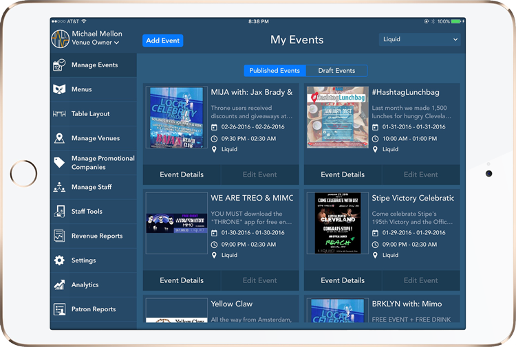 List Your Events