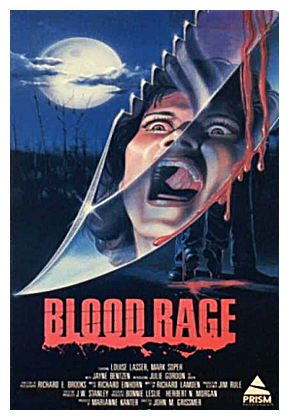 21. Blood Rage (1987) - A cult film that gives us an excellent 80's synth score, great makeup effects and a high body count. Other than that? A lot of laughable moments. Watch it with friends, quote the ridiculous lines and have fun because that is all this slasher has to offer.
