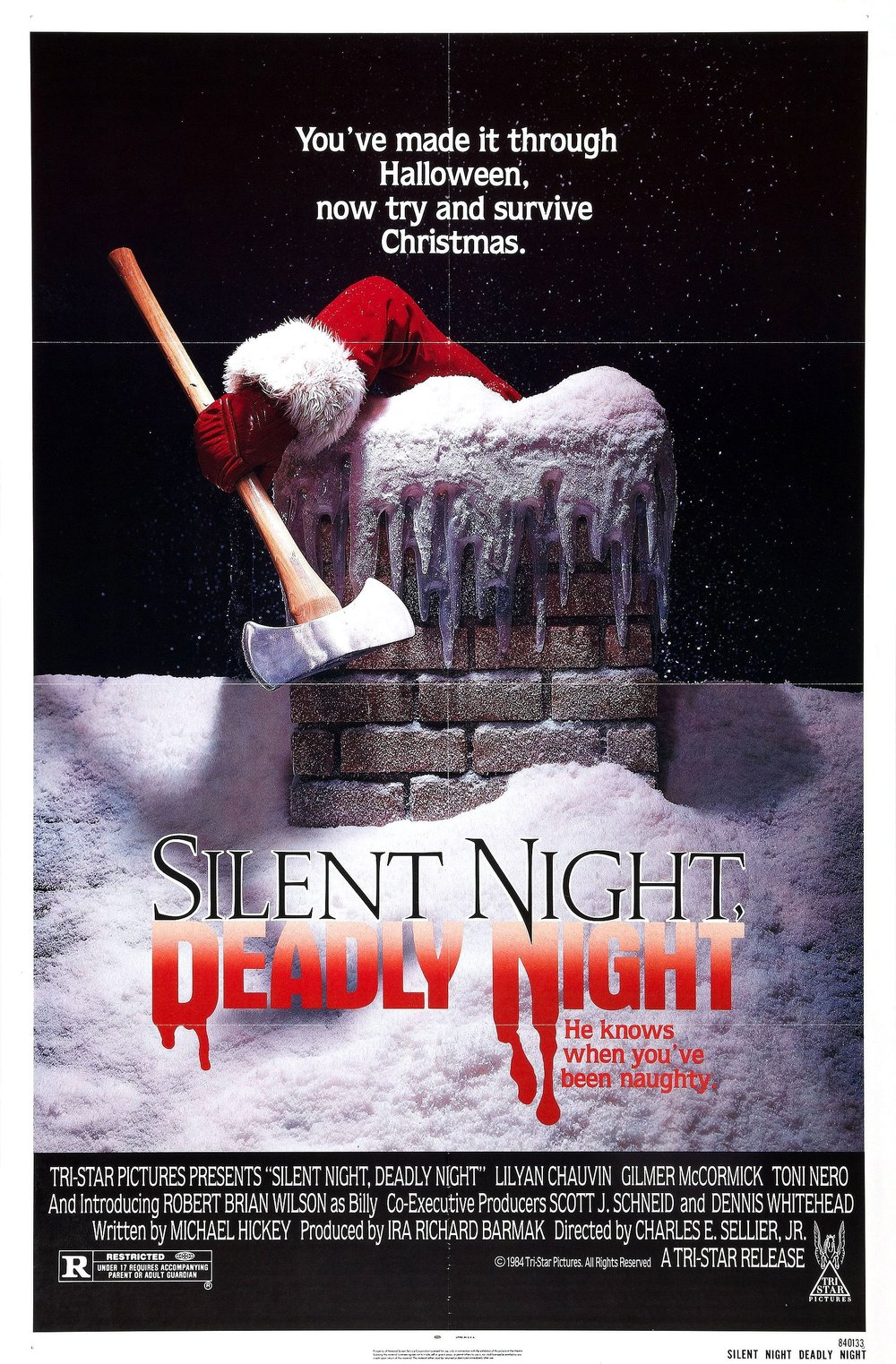 12. Silent Night, Deadly Night (1984) - A shinning holiday slasher that focuses on the story of our killer and not his victims. A dark origin story of a tortured boy that turns to a delightfully fun and inventive killer Santa. It's so good it almost makes us sad we can only watch it every Christmas.