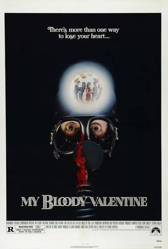 1. My Bloody Valentine (1981) - An answer to the Post-Halloween craze this Valentine's Day themed slasher is one of the early examples of the slasher structure we now know and love. Small town, likable and in love young adults, and a town legend with a knack for murdering. Necessary viewing every Valentine's Day and for every horror fan.