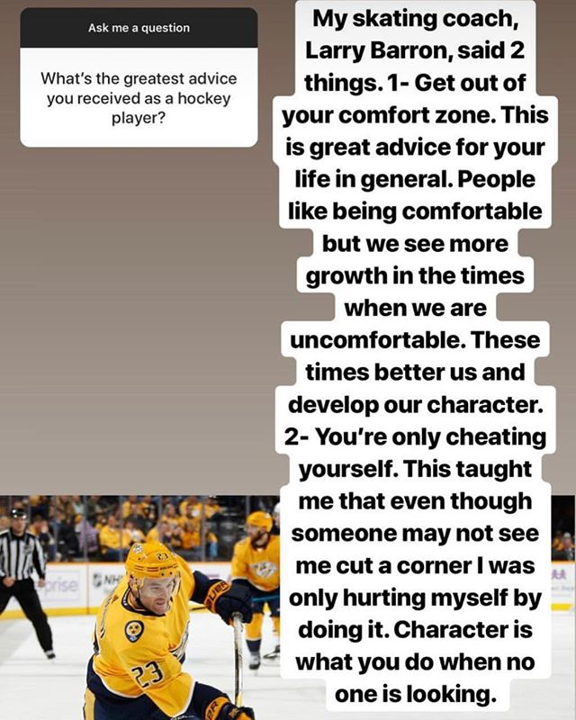 We miss you @rgrimaldi23! Keep doing you, you're an inspiration! #nashvillepredators #barronhockey #comfortzone
