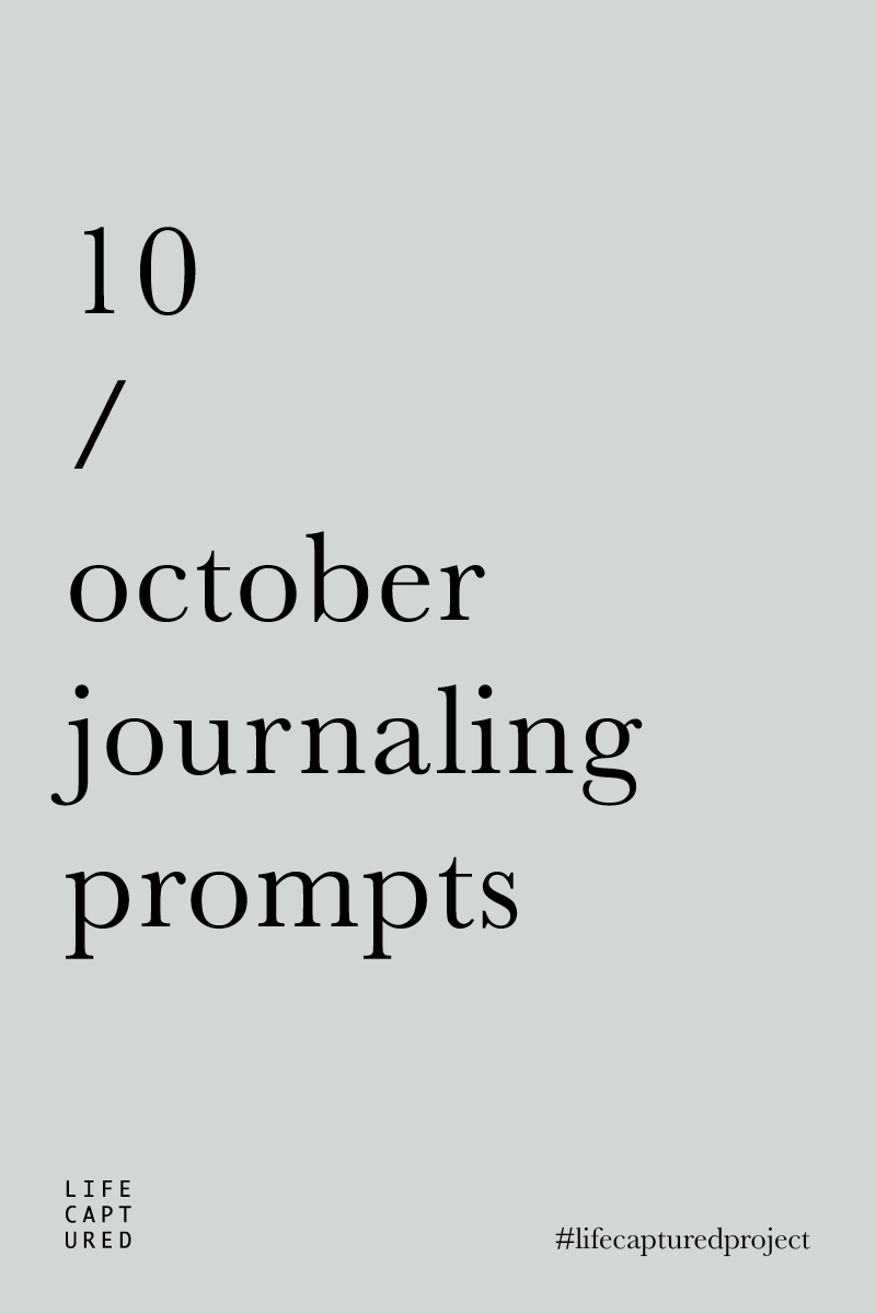 Daily journaling prompts by LIFE:CAPTURED