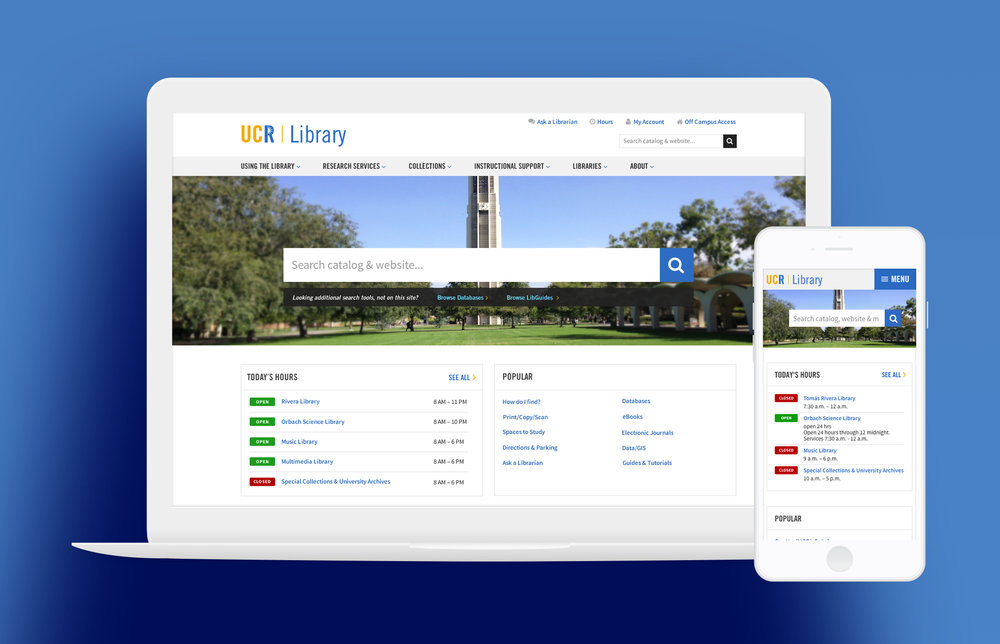UC Riverside Library Responsive Design