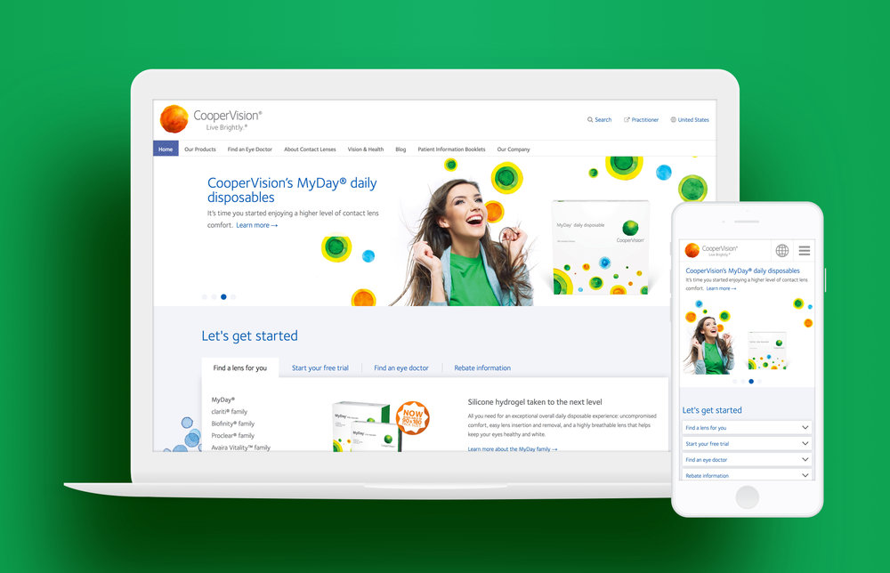 CooperVision home page.