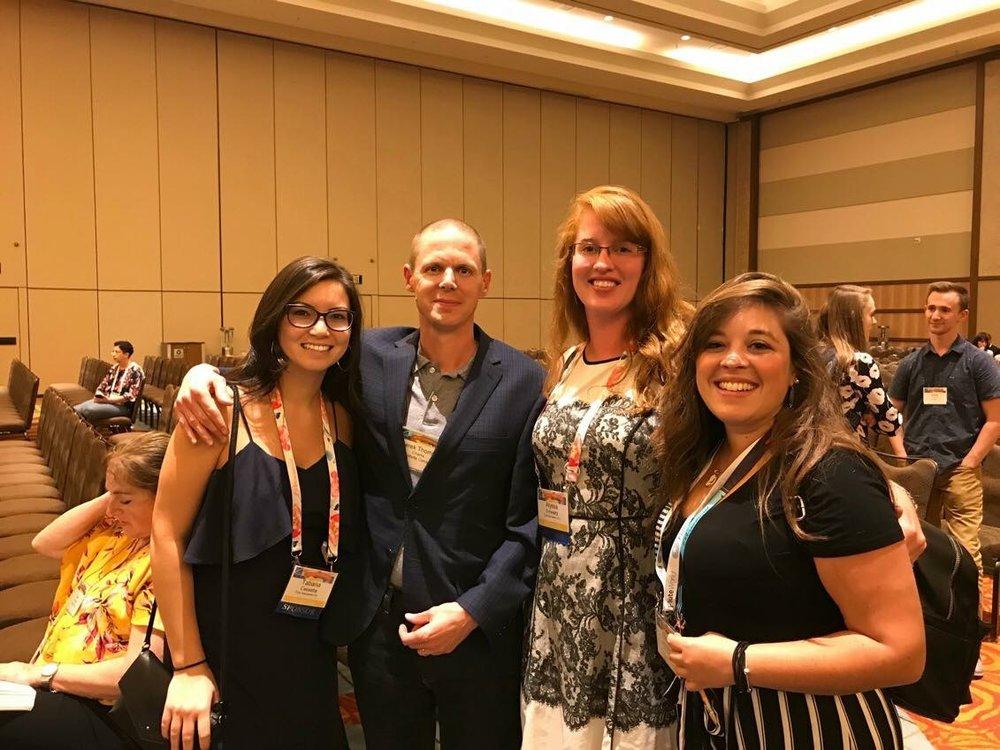 With composer Derek Charke at the 2018 National Flute Association Convention (Orlando, FL)