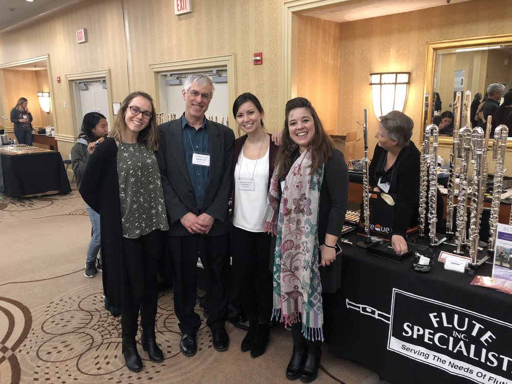 With composer Daniel Dorff at the 2019 Mid-Atlantic Flute Convention