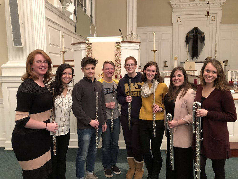 Harrisburg Symphony Youth Orchestra Flute Quartet coaching (March, 2019)