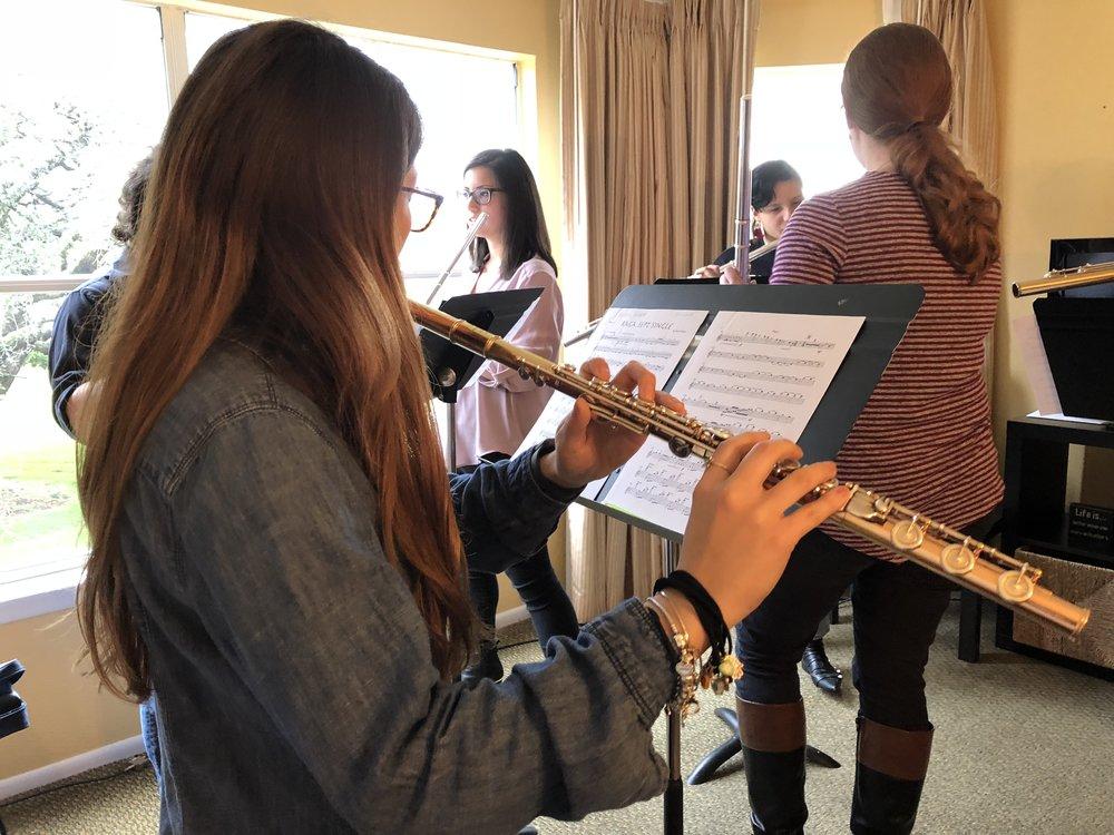 Coaching session with the Kizuna Flute Quartet (Orlando, FL)