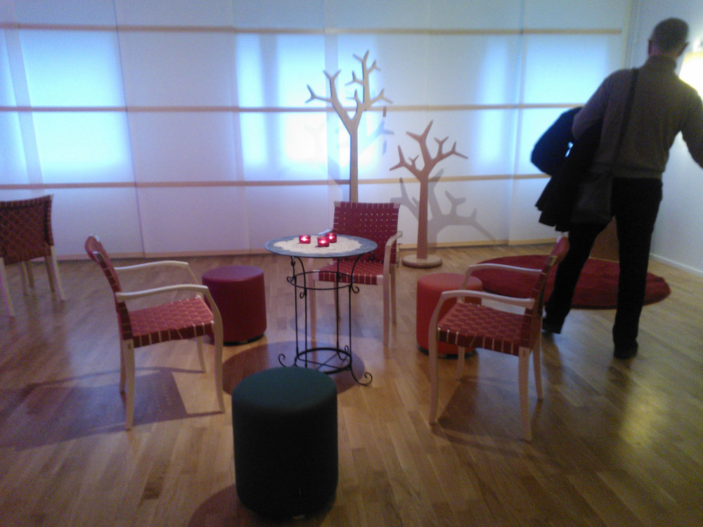 The inauguration of the redesigned room of silence at SUS Malmö hospital in 2014 (source: photo by Anna Petersson, 2014).