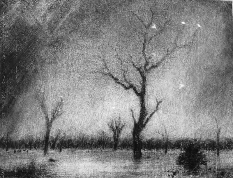 Lake Mulwala, showers approaching