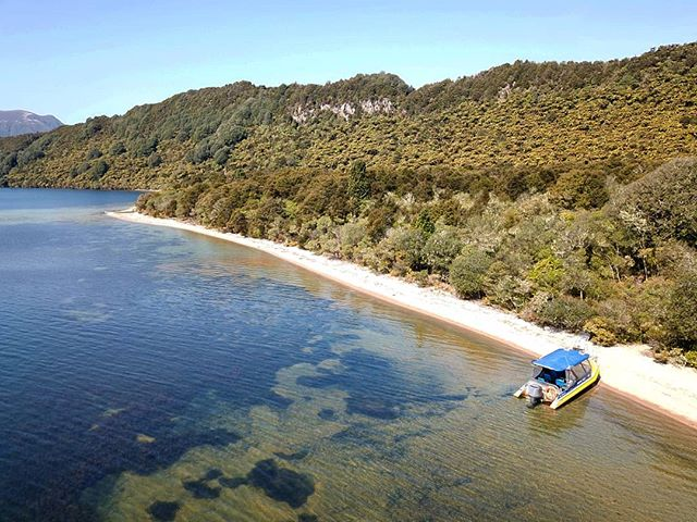 I may have left the Pacific, but check out this beautiful private beach at Lake Tarawera 👌 Aotearoa = paradise!  #newzealand #getoutside