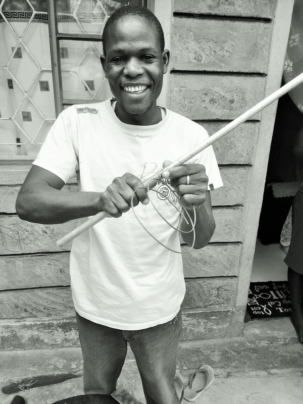 Elijah from Nairobi, Kenya, made my beautiful Askari Bone Bangle (see images below). Read more about Elijah  here.