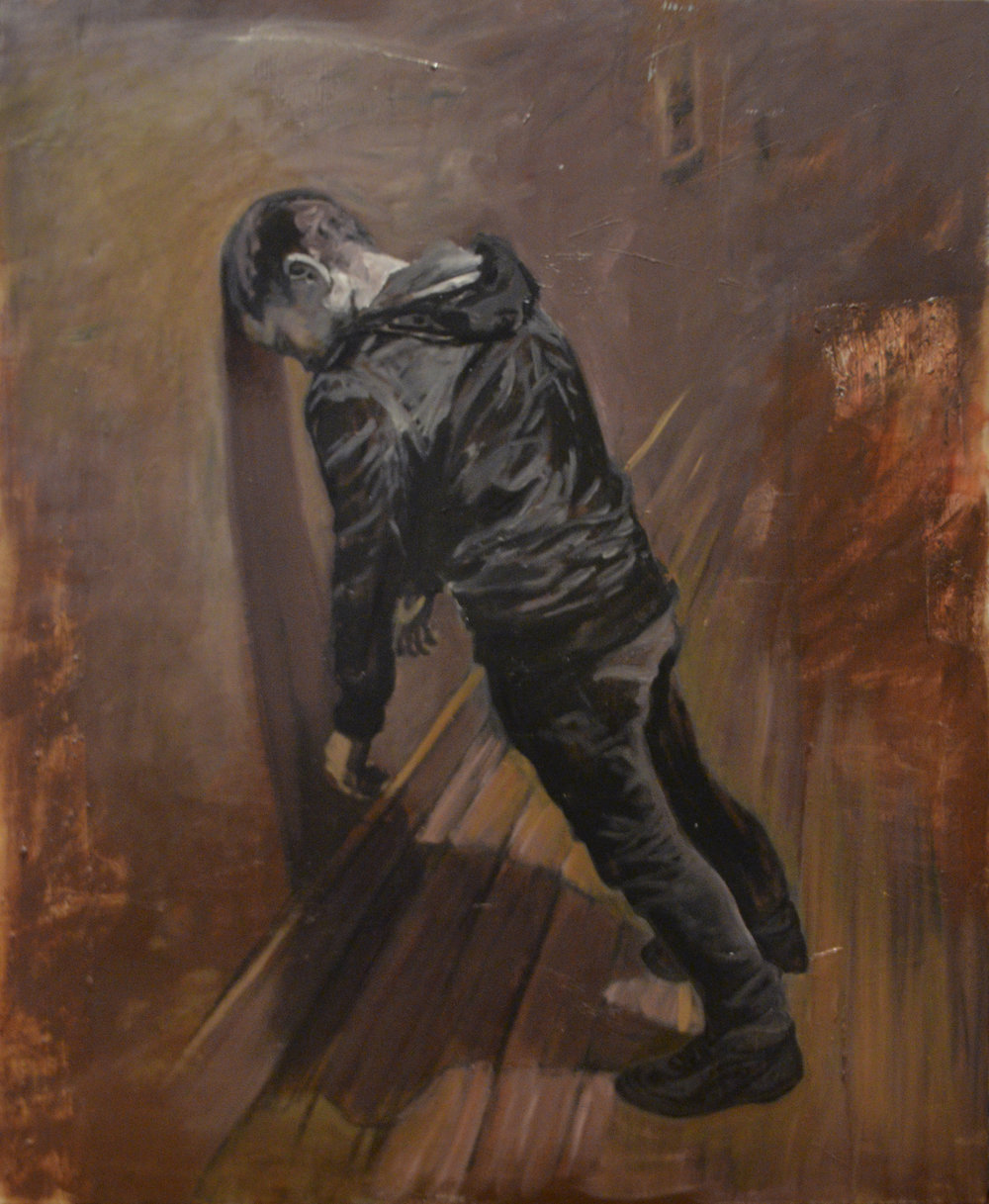 Lean to, 2015, oil on linen, 168cm x 137cm.jpg