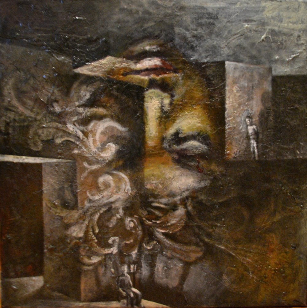 Observer, 2015, 61cm X 61 cm, oil on linen.jpg