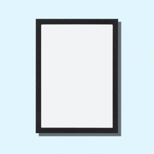 Frame 40x50 cm | Black wood — Swordfish & Friend