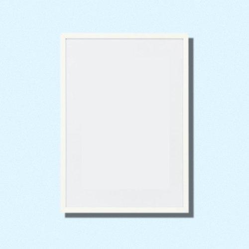 Frame 40x50 cm | White metal — Swordfish & Friend